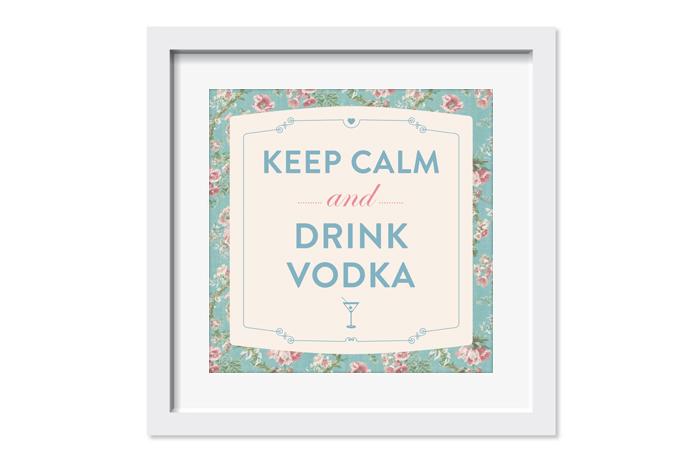 moldura casamento vodka bar keep calm